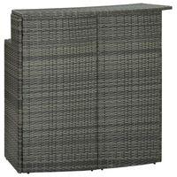 vidaXL Garden Bar Table Grey 120x55x110 cm Poly Rattan
