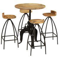 vidaXL Bar Set 5 Pieces Solid Mango Wood
