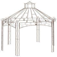 vidaXL Garden Pavilion Antique Brown 558x350x408 cm Iron