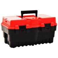 vidaXL Tool Box Plastic 462x256x242 mm Red