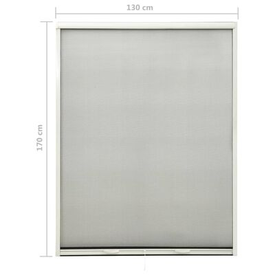 vidaXL Roll down Insect Screen for Windows White 130x170 cm