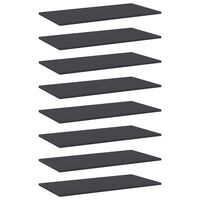 vidaXL Bookshelf Boards 8 pcs Grey 80x40x1.5 cm Chipboard