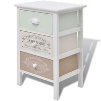 vidaXL French Storage Cabinet 3 Drawers Wood