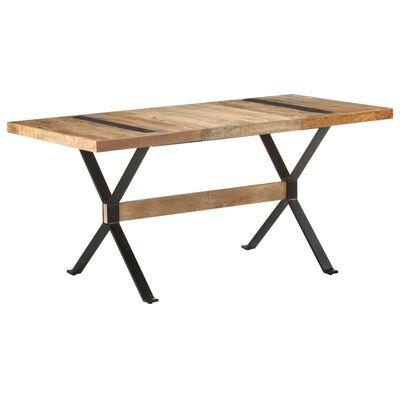 vidaXL Dining Table 160x80x76 cm Rough Mango Wood