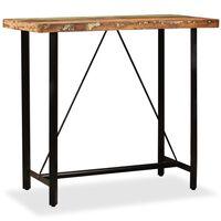 vidaXL Bar Table Solid Reclaimed Wood 120x60x107 cm