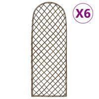 vidaXL Garden Trellises 6 pcs 45x170 cm Willow