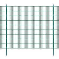 vidaXL 2D Garden Fence Panels & Posts 2008x1830 mm 32 m Green