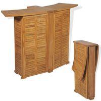vidaXL Folding Bar Table 155x53x105 cm Solid Teak Wood