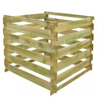 vidaXL Slatted Compost Bin 0.54 m3 Square Wood