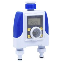 vidaXL Electronic Dual Outlet Water Timer with Rain Delay