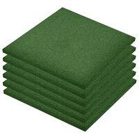 vidaXL Fall Protection Tiles 18 pcs Rubber 50x50x3 cm Green