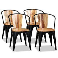 vidaXL Dining Chairs 4 pcs Solid Acacia Wood
