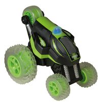Happy People RC Toy Stunt Car Power Tumbler Green and Black