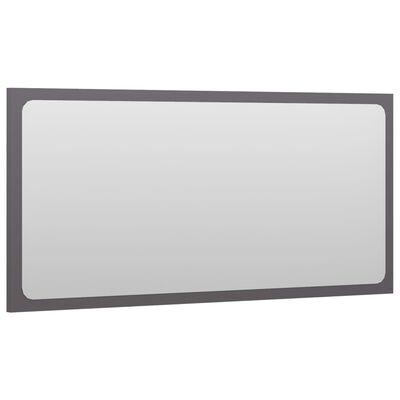 vidaXL Bathroom Mirror High Gloss Grey 80x1.5x37 cm Chipboard
