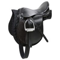 Kerbl Haflinger Saddle Leather Black 32285