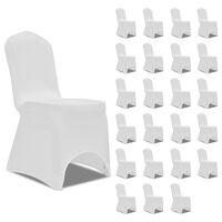 vidaXL Chair Cover Stretch White 24 pcs