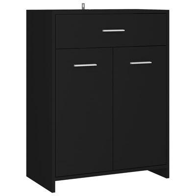 vidaXL Bathroom Cabinet Black 60x33x80 cm Chipboard