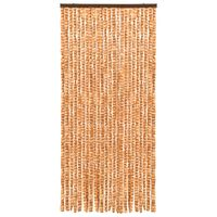 vidaXL Insect Curtain Ochre and White 90x220 cm Chenille