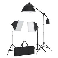 Lighting Set: 3 Photo Lights with Tripod & Softbox