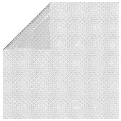 vidaXL Floating PE Solar Pool Film 500x300 cm Grey