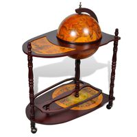 vidaXL Globe Bar Wine Stand Eucalyptus Wood Freestanding