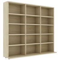 vidaXL CD Cabinet Sonoma Oak 102x23x89.5 cm Chipboard