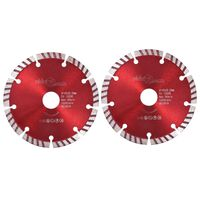 vidaXL Diamond Cutting Discs 2 pcs with Turbo Steel 125 mm