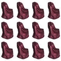 vidaXL Chair Cover for Wedding Banquet 12 pcs Burgundy