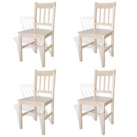 vidaXL Dining Chairs 4 pcs Pinewood