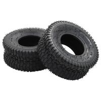 vidaXL 4 Piece Wheelbarrow Tire and Inner Tube Set 15x6.00-6 4PR Rubber