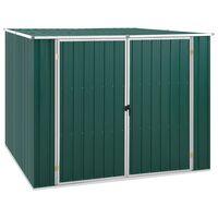 vidaXL Garden Shed Green 195x198x159 cm Galvanised Steel