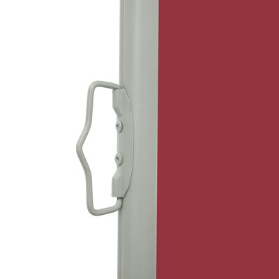 vidaXL Patio Retractable Side Awning 100x300 cm Red