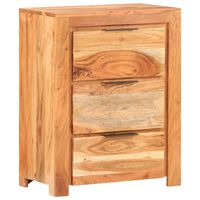 vidaXL Sideboard 59x33x75 cm Solid Acacia Wood