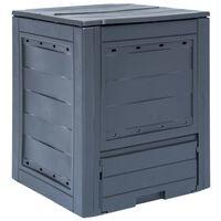 vidaXL Garden Composter Grey 60x60x73 cm 260 L