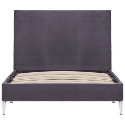 vidaXL Bed Frame Grey Fabric 90x190 cm