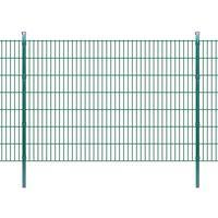 vidaXL 2D Garden Fence Panels & Posts 2008x1430 mm 10 m Green