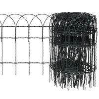 vidaXL Garden Border Fence Powder-coated Iron 25x0.4 m