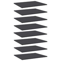 vidaXL Bookshelf Boards 8 pcs Grey 60x50x1.5 cm Chipboard