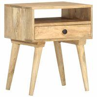 vidaXL Bedside Cabinet 40x35x50 cm Solid Mango Wood