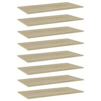 vidaXL Bookshelf Boards 8 pcs Sonoma Oak 80x30x1.5 cm Chipboard