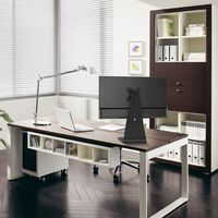 NewStar Stylish Desk Stand for 10-27 Monitor Screen Adjustable 6 cm Black