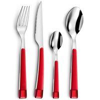 Amefa 16 Piece Cutlery Set Guimauve Red