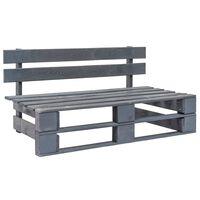vidaXL Garden Pallet Bench Wood Grey