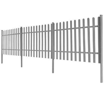 vidaXL Picket Fence with Posts 3 pcs WPC 600x100 cm