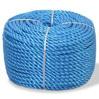 vidaXL Twisted Rope Polypropylene 12 mm 250 m Blue
