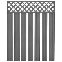 vidaXL Replacement Fence Boards WPC 7 pcs 170 cm Grey