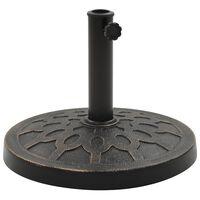 vidaXL Parasol Base Round Polyresin 13 kg Bronze