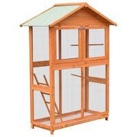 vidaXL Bird Cage Solid Pine & Fir Wood 120x60x168 cm