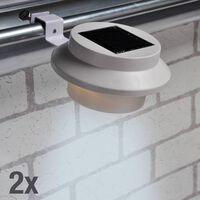 HI LED Solar Gutter Light Set 2 pcs White