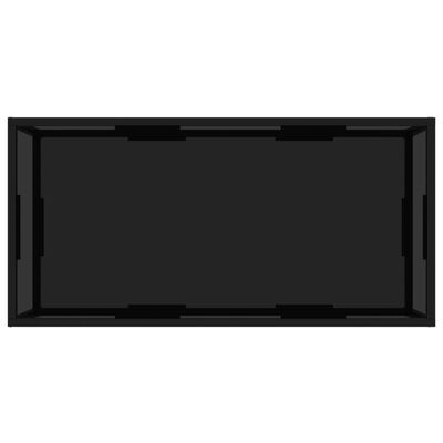 vidaXL Tea Table Black 100x50x35 cm Tempered Glass